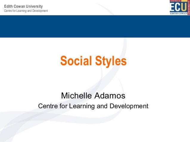 Social styles 2013 sspdd april bu