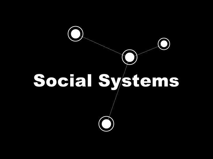 Social Ecosystems