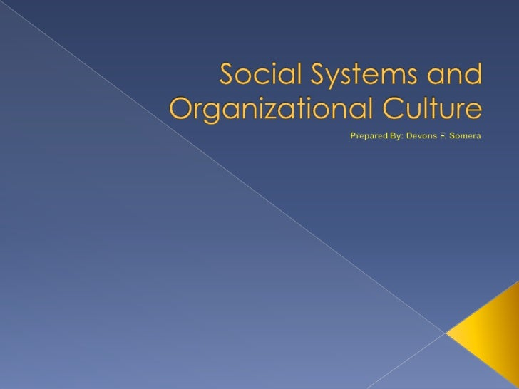    A social system is a complex set of human relationships interacting in    many ways. Possible interactions are as limi...