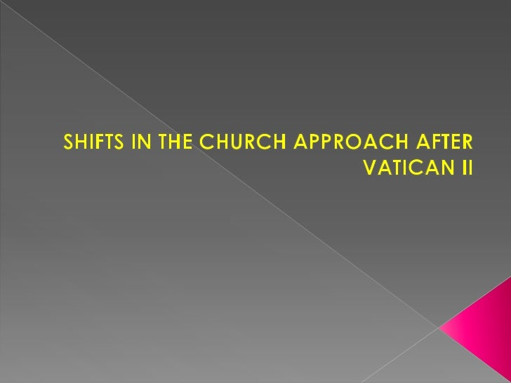    The Second Vatican council marked a    new period in the life of the Church.    One fundamental aspect of this new    ...