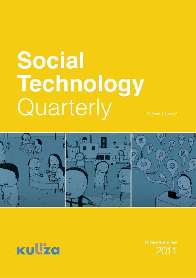 Social technology quarterly Vol 1 issue 3