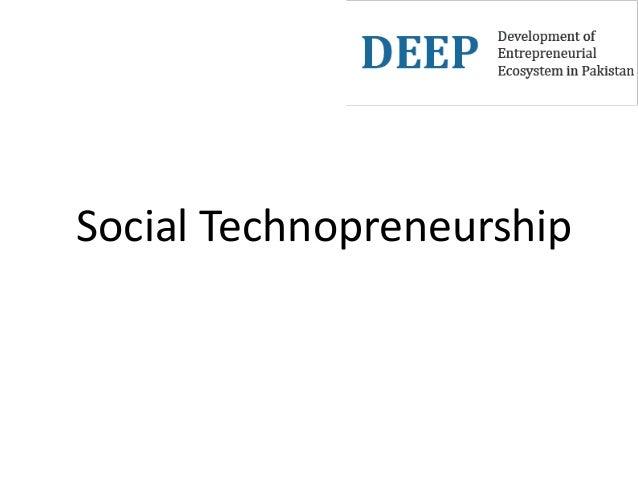 Social Technopreneurship
