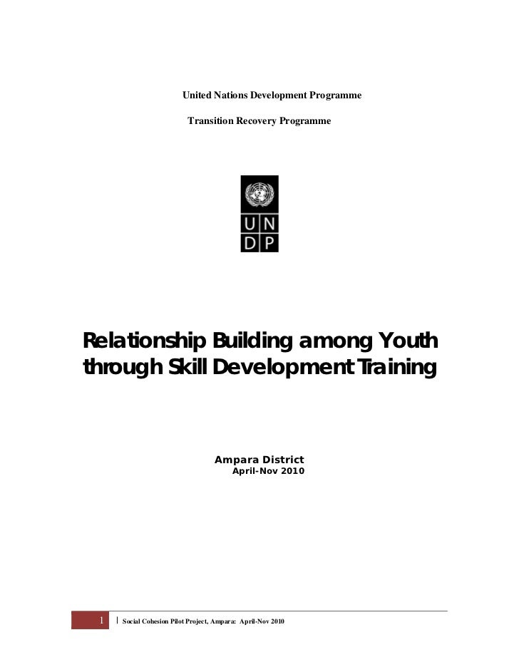 Building Peace among Youth through Training-A Proposal for