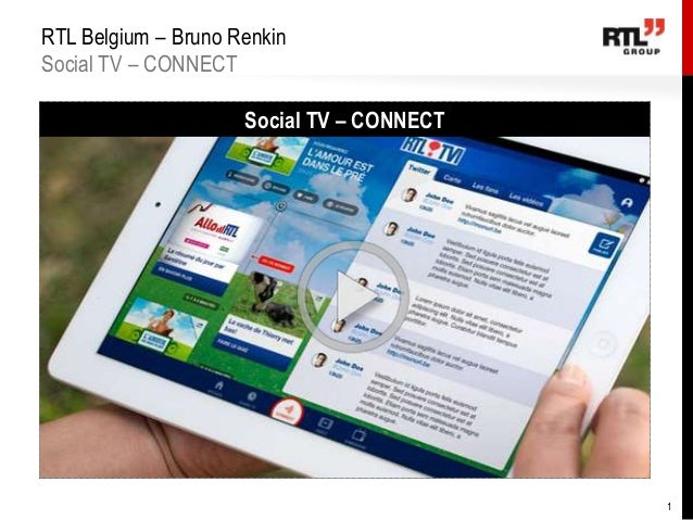 RTL Belgium – Bruno Renkin Social TV – CONNECT Social TV – CONNECT  1