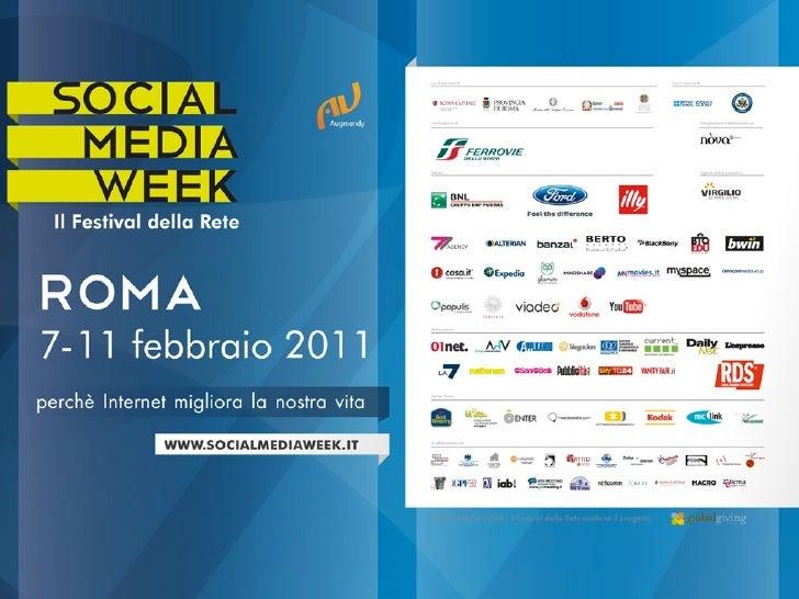 Social Media Weekil Festival della Rete, sostiene il progetto GlobalGiving.