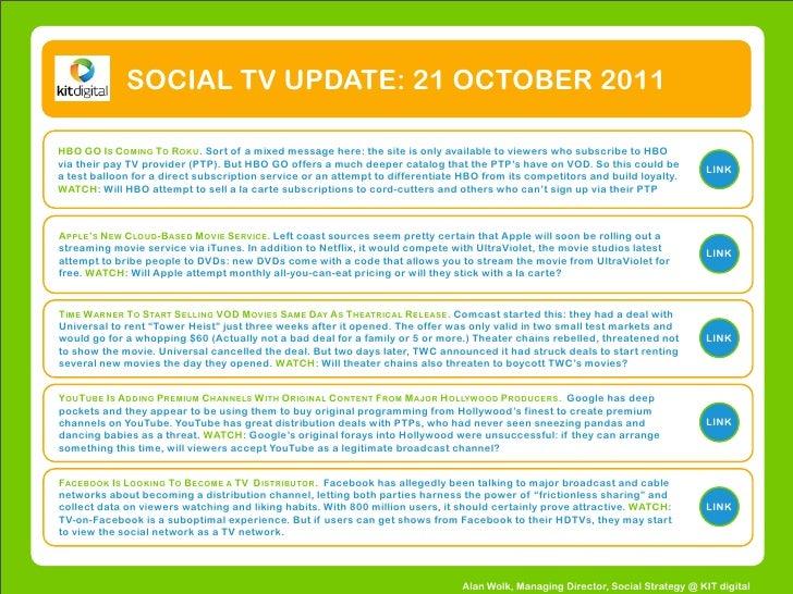 Social TV Update #1