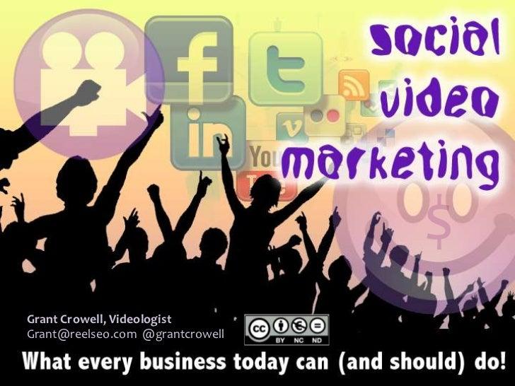Socialize: Monetizing Social Media - Grant Crowell