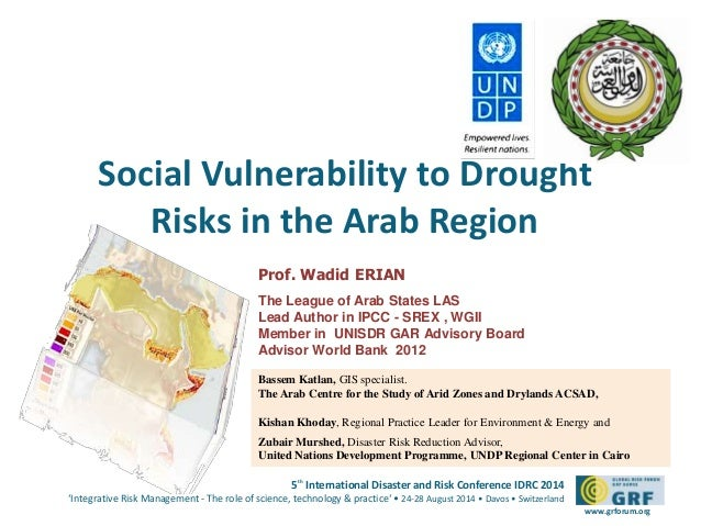 Social Vulnerability to Drought  5th International Disaster and Risk Conference IDRC 2014  'Integrative Risk Management - ...