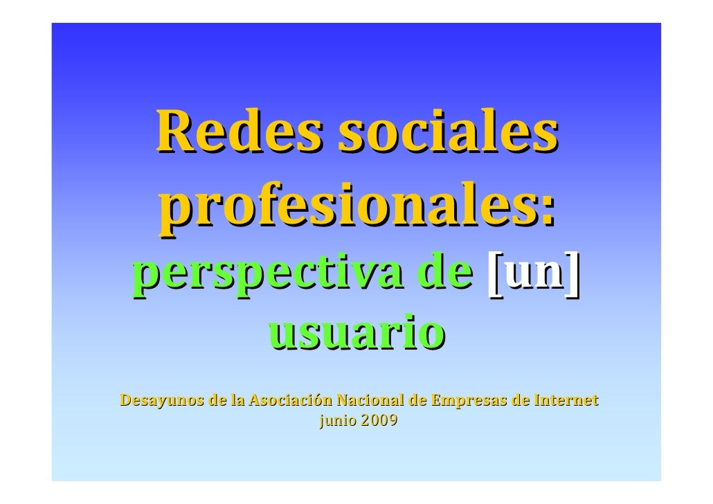Social web for professional dummies
