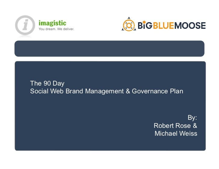The 90 Day Social Web Brand Management & Governance Plan                                                  By:             ...