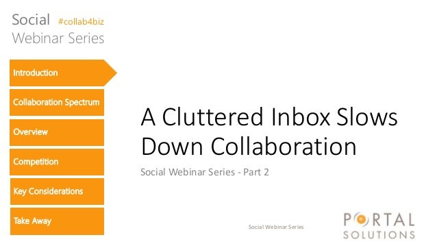 "Social Webinar Series - Part 2 ""A Cluttered Inbox Slows Down Collaboration"""