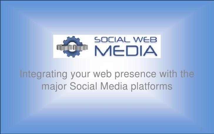 Integrating your web presence with the major Social Media platforms<br />1<br />