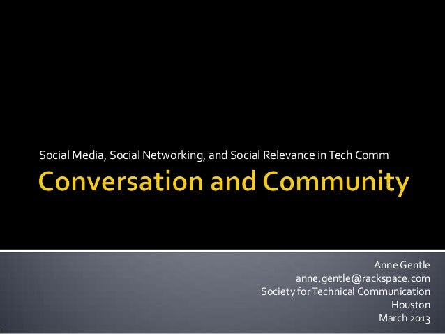 Social web for Tech Comm, STC March 2013