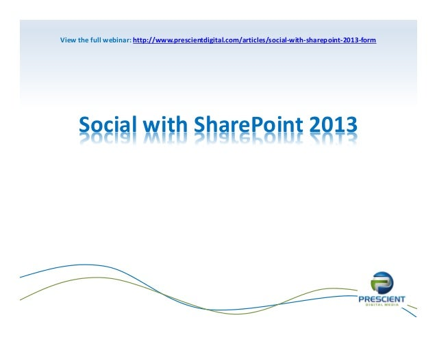 Social with SharePoint 2013