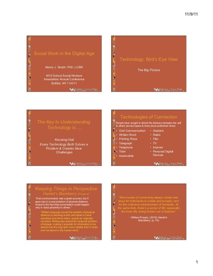 11/9/11Social Work in the Digital Age                                                                 Technology: Bird's E...