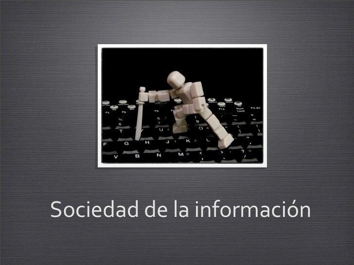 Sociedaddelainformación