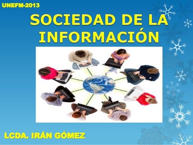 UNEFM-2013  LCDA. IRÁN GÓMEZ