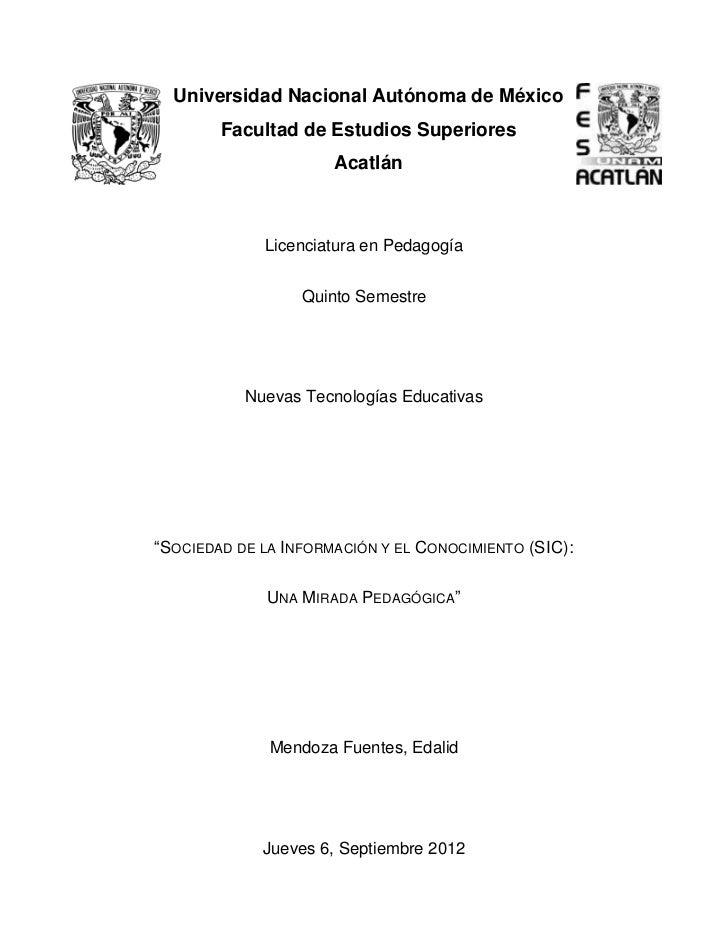 Universidad Nacional Autónoma de México        Facultad de Estudios Superiores                      Acatlán             Li...