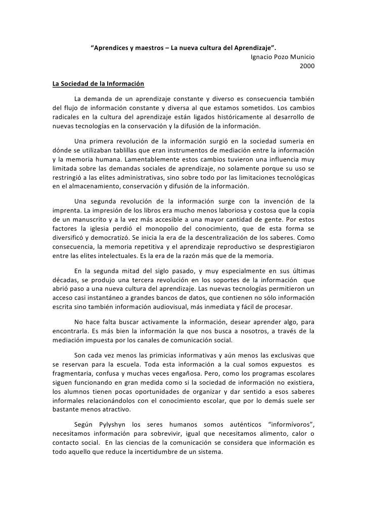 Sociedad de la informacion (Pozo Municio) - 4to Com (TIC's)