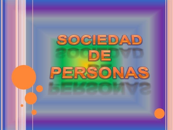 Sociedad de personas