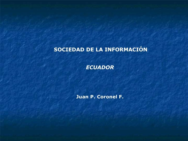 Sociedad Ecuador