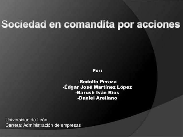 Por:                                -Rodolfo Peraza                          -Édgar José Martínez López                   ...