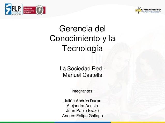 Sociedad red, manuel castells