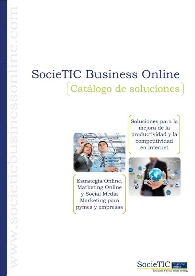 Societic Business Online, catálogo de servicios