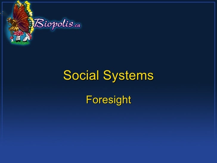 Social Systems Foresight