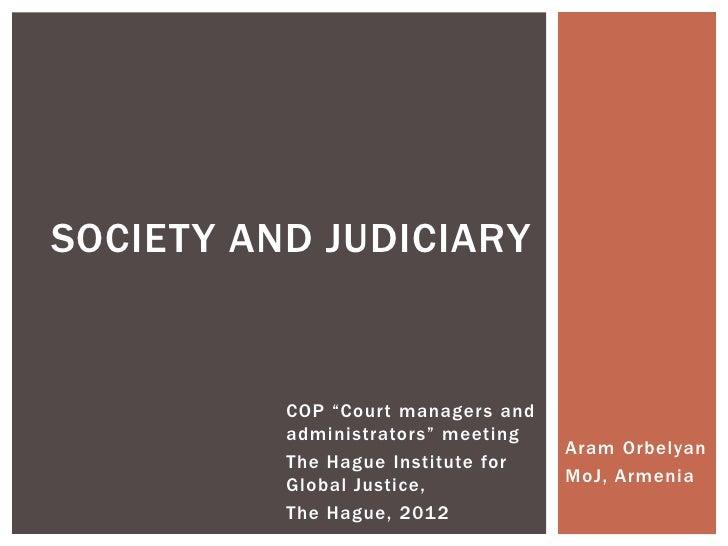 Society And Judiciary