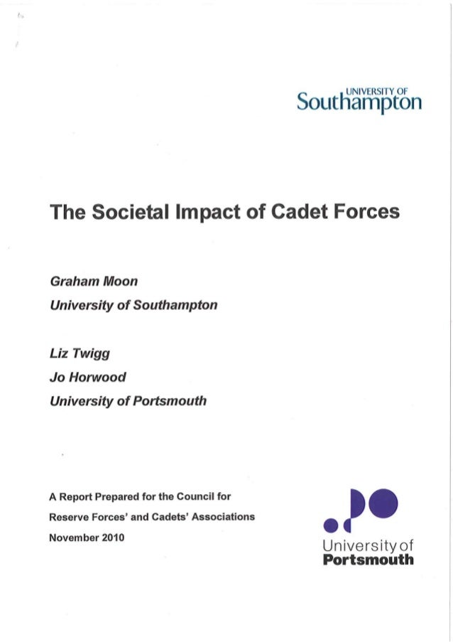 Society impact of cadet forces