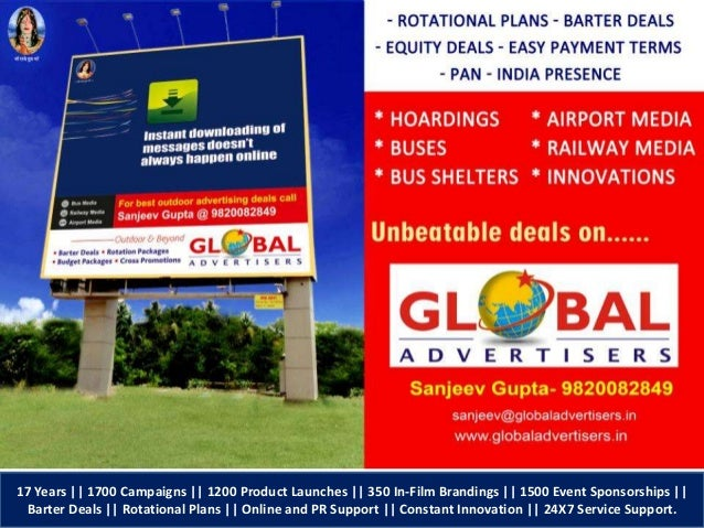17 Years || 1700 Campaigns || 1200 Product Launches || 350 In-Film Brandings || 1500 Event Sponsorships || Barter Deals ||...