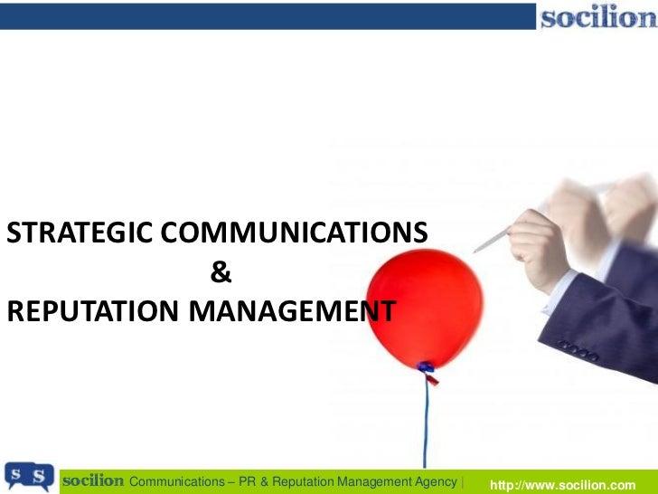 STRATEGIC COMMUNICATIONS            &REPUTATION MANAGEMENT   socilion Communications – PR & Reputation Management Agency |...