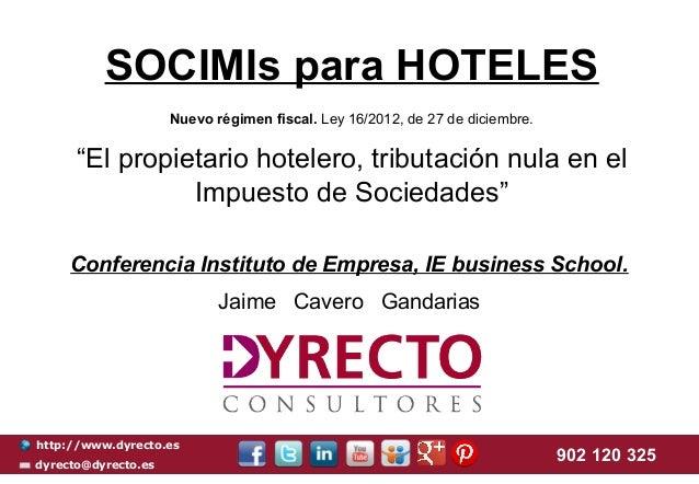 SOCIMIs para Hoteles