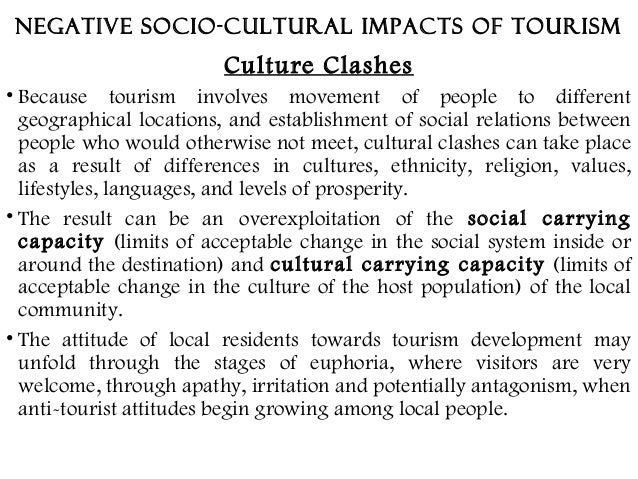 positive socio cultural impact of tourism
