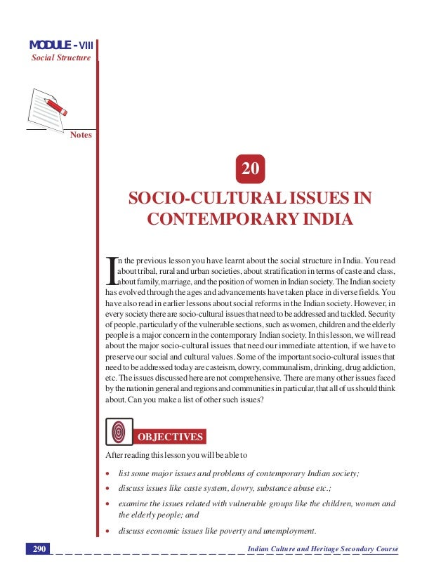 contemporary social issues in india Contemporary issues can be found in almost any matter of what is a contemporary issue what are some examples update what are some examples of social issues.