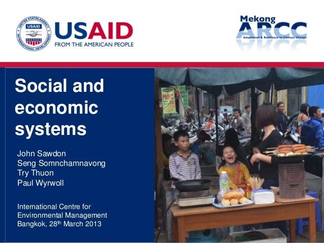 Mekong ARCC - Final workshop - Socio-Economic Study