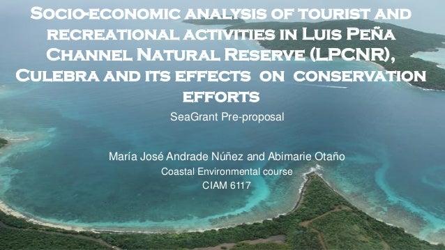 Socio economic analysis of tourist and recreational activities in Luis Peña
