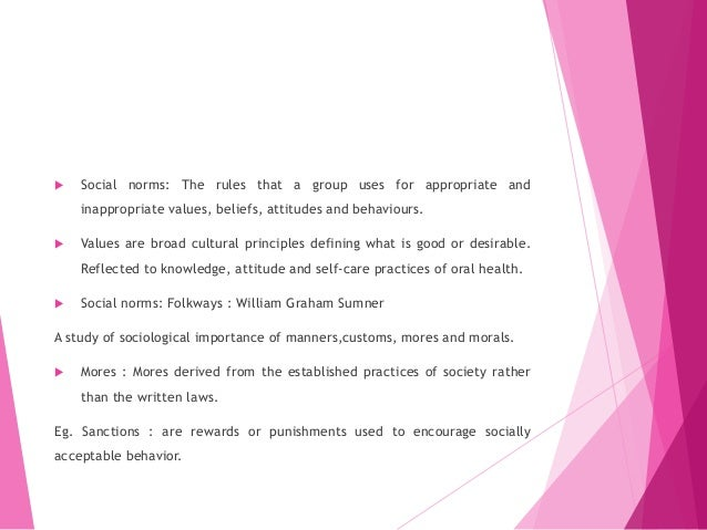 importance of attitude and social norms The attitude that women should psychologists and sociologists alike have emphasized the important role of social control for the how social norms.