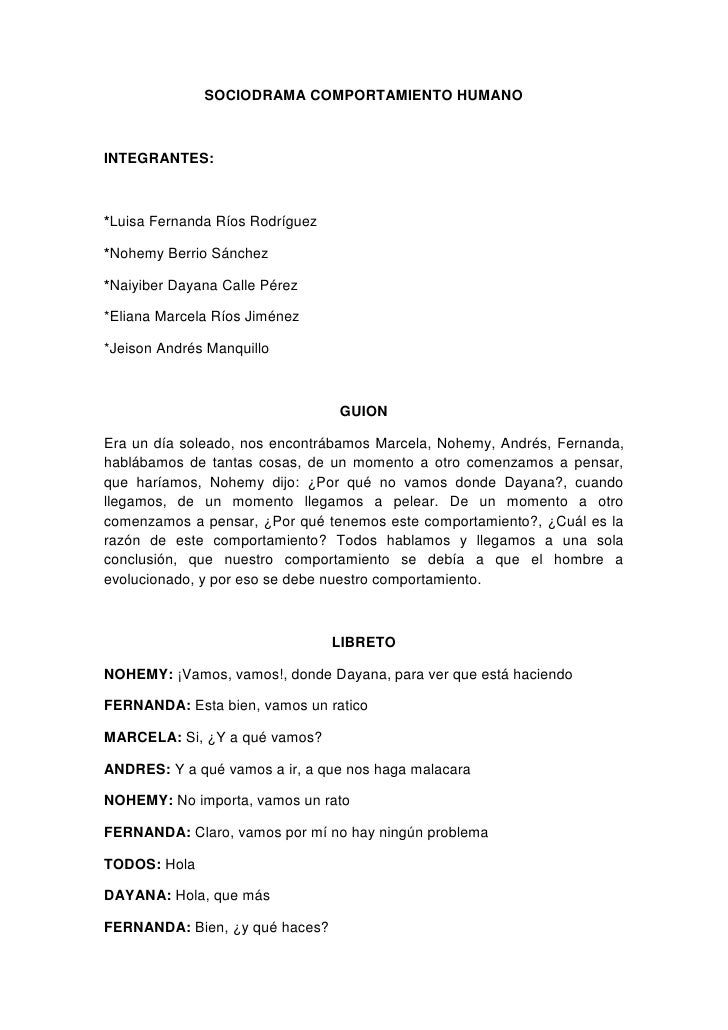 SOCIODRAMA COMPORTAMIENTO HUMANO<br />INTEGRANTES:<br />*Luisa Fernanda Ríos Rodríguez<br />*Nohemy Berrio Sánchez<br />*N...