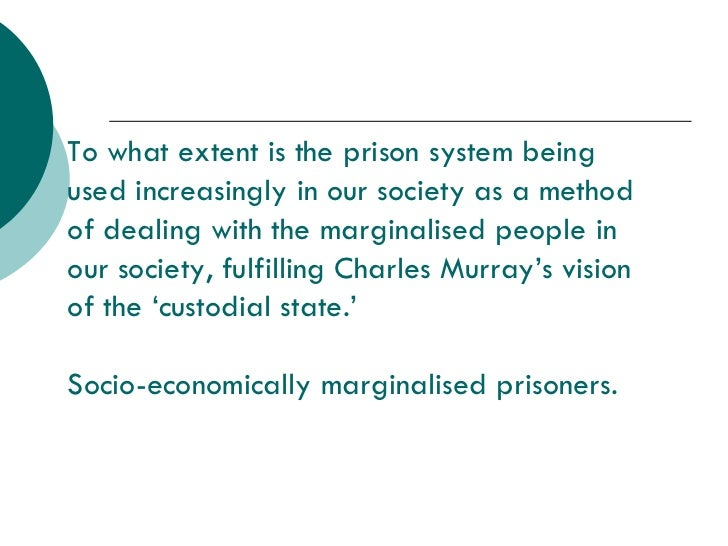 Prisons - Socio-Economic