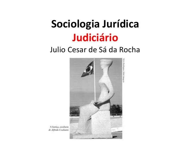 Sociologia Jurídica Judiciário  Julio Cesar de Sá da Rocha