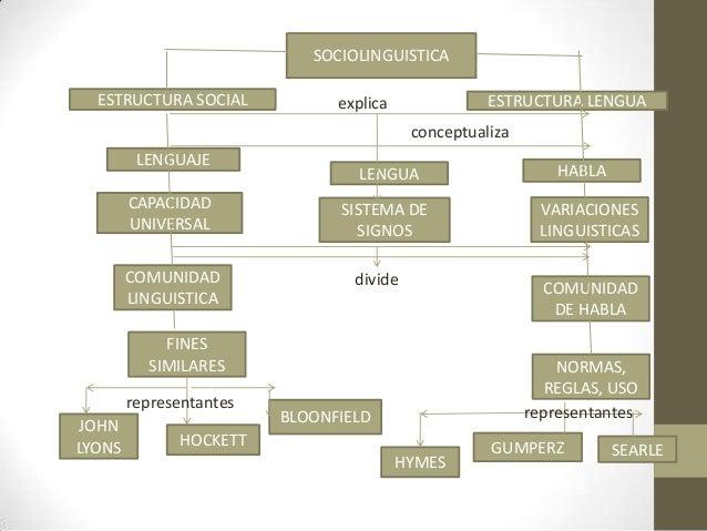 SOCIOLINGUISTICAESTRUCTURA LENGUAESTRUCTURA SOCIALLENGUAJELENGUA HABLACAPACIDADUNIVERSALSISTEMA DESIGNOSVARIACIONESLINGUIS...