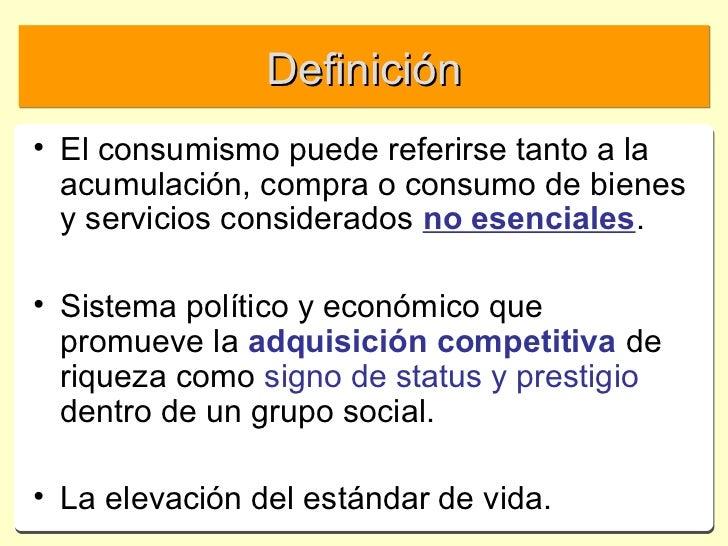 Sociolog a del consumo 1 1 definicion for Definicion de contemporanea