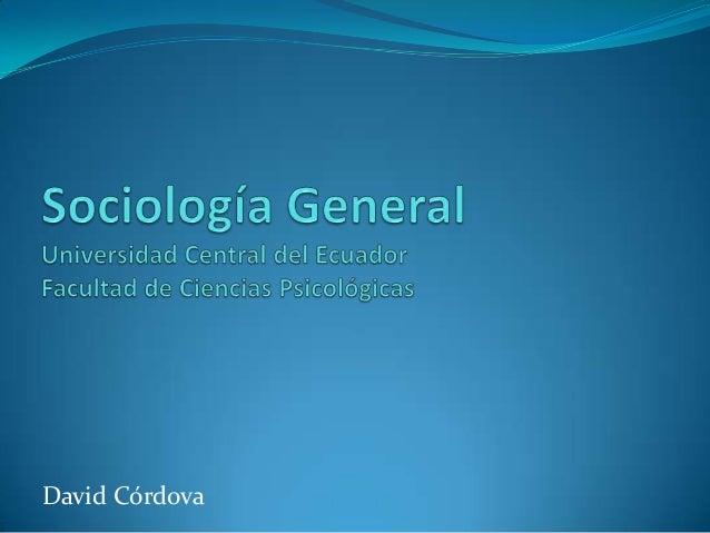 Sociología general