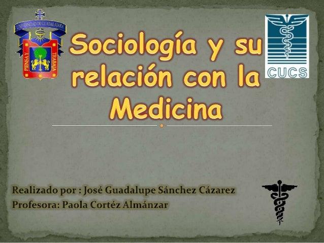 Sociología y medicina