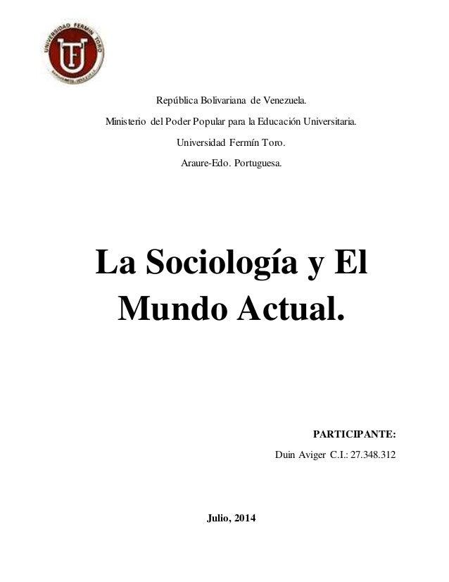 República Bolivariana de Venezuela. Ministerio del Poder Popular para la Educación Universitaria. Universidad Fermín Toro....