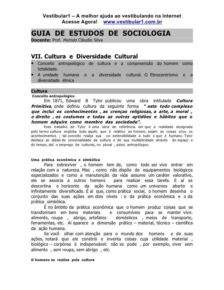 Vestibular1 – A melhor ajuda ao vestibulando na Internet              Acesse Agora! www.vestibular1.com.br  GUIA DE ESTUDO...