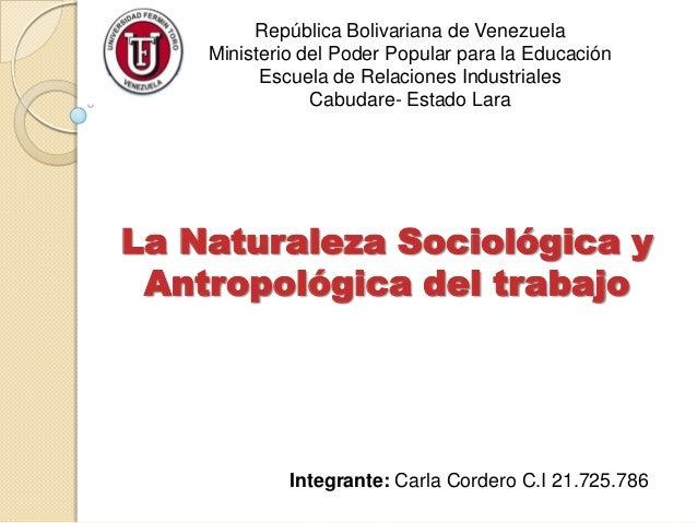 República Bolivariana de VenezuelaMinisterio del Poder Popular para la EducaciónEscuela de Relaciones IndustrialesCabudare...
