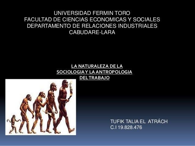 Sociologia y antropologia del trabajo